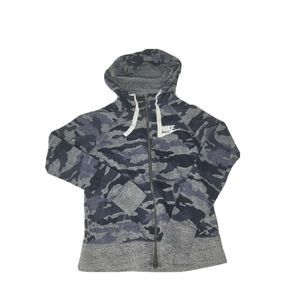 Sm Camouflage Blue Gray Light Zip Up Jacket EUC